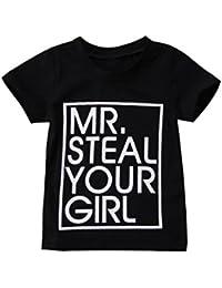 Toddler Kid Boy Girl Shirt Letter Printing Short Sleeve Music Fan T Shirts Top Tee
