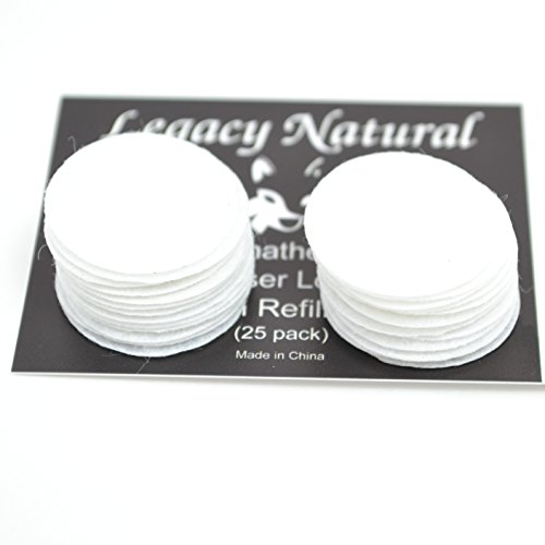 25-Pack-Large-Aromatherapy-Diffuser-Locket-Necklace-Refill-Pads