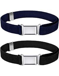 Kids Magnetic Belt Adjustable Elastic Belt with Magnetic Buckle for Boys Daily Use Girls (Color Set 4, 2)