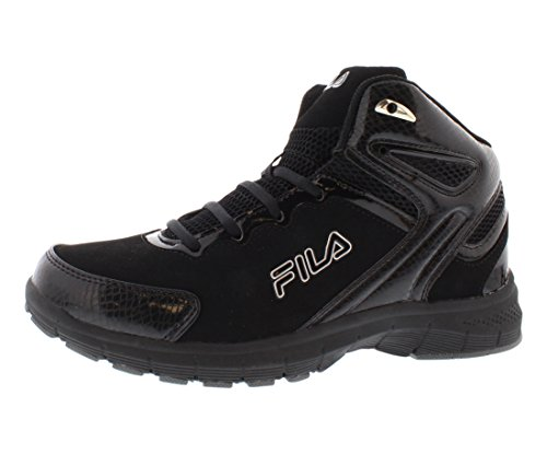 Fila Men's Big Bang Basketball Shoe, Black/Black/Metallic Silver, 11 M US