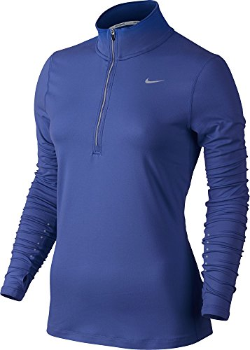Women's Nike Dry Element Running Top Comet Blue/Reflective Silver Size Medium