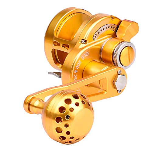 Proberos Proberos Trolling Reel Fishing Reels Round Fishing Reel for Trout Bass Fishing - fit Travel Saltwater Freshwater - Max Drag Power 30lb-46lb Left Handed(200, Left) price tips cheap