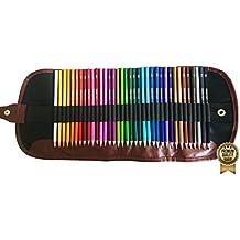Amazrock Watercolor Pencils Set - 36 Colors (Soft Core Special Edition) | Water Soluble Artist Colored Pencils | Includes CANVAS Roll Colored Pencil Case