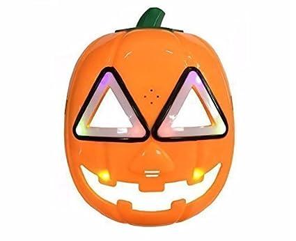 uchic 1pcs diseño divertido máscara máscaras de calabaza Flash Iluminación LED con sonido regalo del día