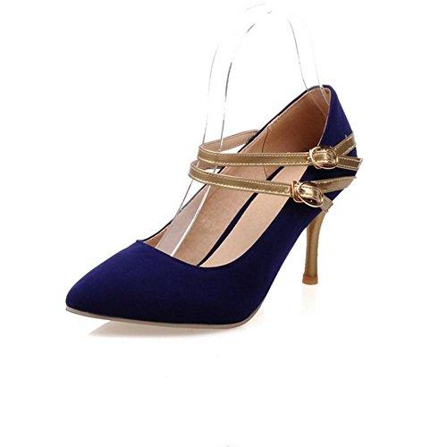 doppia levigatura blue H primavera usura in antiscivolo donne autunno tacchi in anti con Nero 40 alti fibbia Blu XIAOGANG rosso HLe e PwOqqR4
