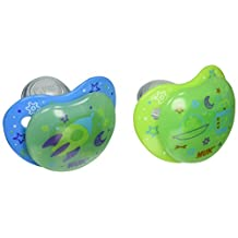 Nuk Night Glow, Glow in The Dark Pacifiers in Assorted Colors and Styles, 6-18 Months
