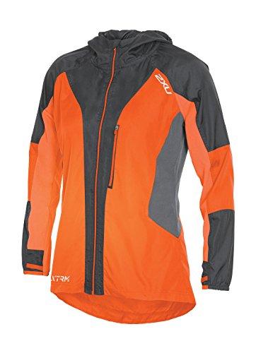 2XU Women's XTRM Race Jacket, Sunburst Orange/Ink, Small by 2XU
