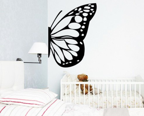 Stickers Butterfly Wings Children Bedroom bedside glass green home decorWallpaper61 cm x 73.7 cm-Dumb Blonde (Blonder Home Sunflowers)