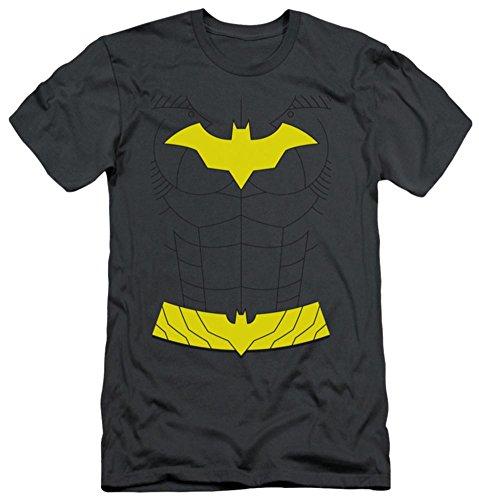 Batman Men's New Batgirl Costume Slim Fit T-shirt X-Large Charcoal - New Batman Affleck Costume