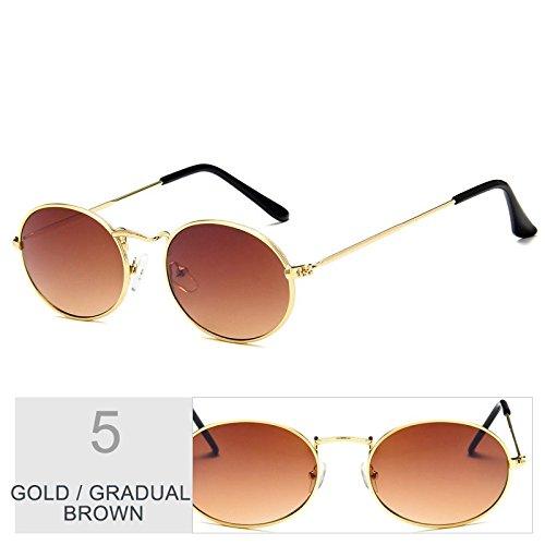 Gafas TIANLIANG04 Oro Sol Brown De Steampunk Gold Redonda Marrón Posterior Gafas Sol Gafas De Bastidor De De Del Metal Hombre Uv400 Mujer Vintage BwxwRqan