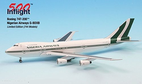 Nigerian Airways G-BDXB 747-200 Airplane Miniature Model Metal Die-Cast 1:500 Part# (British Airways Boeing 747)