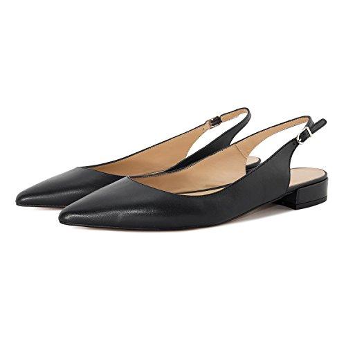 Bowtie Office Musta Kengät Sandaalit Koristeluun Shoes Korot Slingback Korkokenkiä Naisten Eldof 10cm Teräväkärkiset v8Wq4nCw