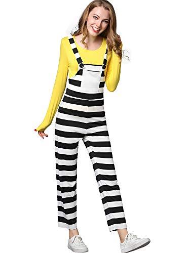 FENSACE Disney's Prisoner Minion Costume Overall for Women
