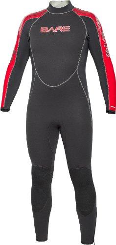 Medium Large Wetsuits - Bare 5mm Velocity Full Suit Men's Wetsuit Red, Medium/Large