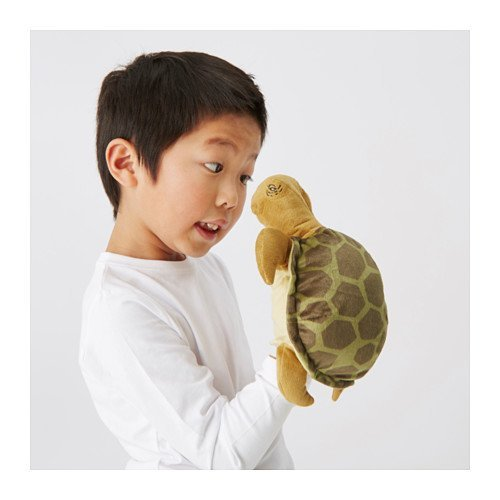 IKEA ONSKAD Glove Puppet, Turtle 'GREEN COLOR