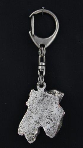Airdale Terrier, Silver Hallmark 925, Silver Dog Keyring, Keychain, Limited Edition, Artdog by Art Dog Ltd. (Image #1)