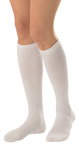 JOBST Activewear 15-20 mmHg Knee High Compression Socks, Medium, Cool White by JOBST