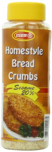 Osem Homestyle Bread Crumbs, Sesame 20%, 15 Ounce (Pack of 12)