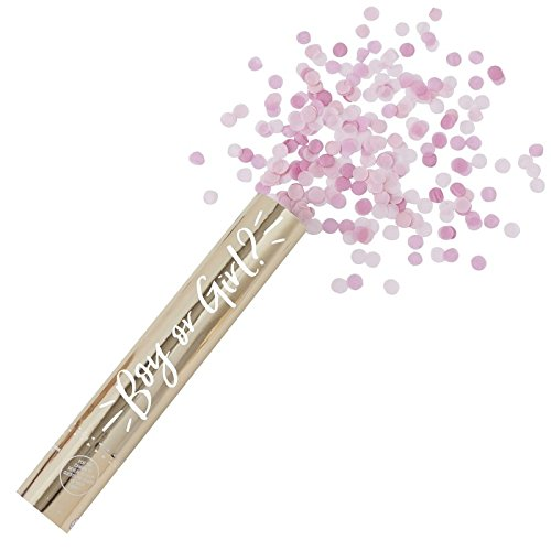 Baby Girl Shower Baby Gender Reveal Pink Confetti Shooter]()