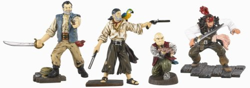 Pirates of the Caribbean 3: At World's End - Black Pearl Captain Jack Sparrow and Crew (Cotton, Marty and Gibbs) Mini Figure Multi-Pack