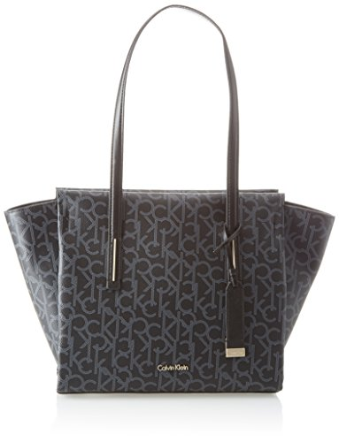 Calvin Klein Frame Medium Shopper Monogram, Borse Tote Donna, 14x30x44 Centimeters (B x H x T) Nero (Black)
