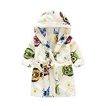 Toddlers/kids Soft Hooded Robe Fleece Bathrobe Children's Pajamas Sleepwear