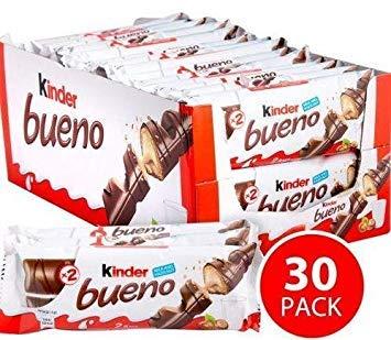 Chocolate Kinder Bueno Pack of 30 Milk Hazelnut Waffle bars