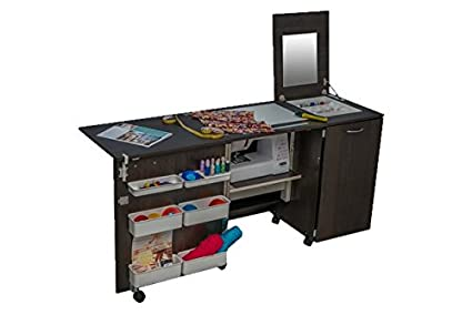 Comfort 3 | Muebles para máquinas de coser y overlock | (Premium White, M (Air-Lifter to 10kg)): Amazon.es: Hogar