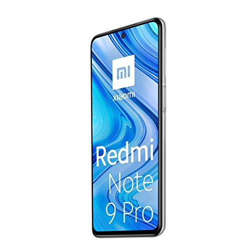 "Xiaomi Redmi Note 9 Pro - Smartphone con pantalla FHD+ 6.67"" DotDisplay (6 GB+128 GB, cámara cuádruple 64 MP con IA, SnapdragonTM 720G, batería 5020 mAh) Blanco"