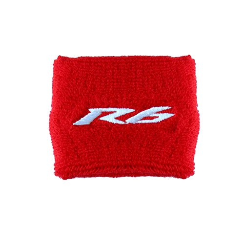 Yamaha R6 Red/White Clutch Reservoir Cover by MotoSocks Fits YZF-R6, R6 (Yamaha R6 Sock)