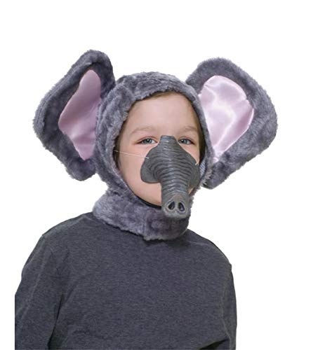 - Forum Novelties Child Size Animal Costume Set, Elephant Hood and Nose Mask