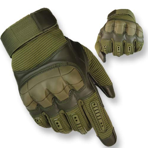 OMG! Multi-Function Tactical Gloves. (Dark Green, XL)