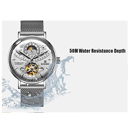BINGER klocka män automatisk mekanisk märke safir vattentät herrklocka, färg C