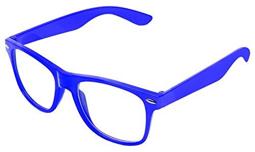 Punk Objectif Geek Style Lunettes Clair Bleu Unisexe Zéro De Effacer Classic Vintage Couleur Nombre Rétro Boolavard Soleil qwI0FPHX