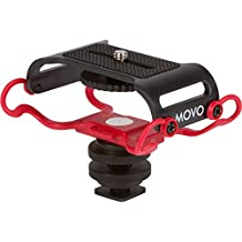 "Movo SMM5-R Universal Microphone and Portable Recorder Shock Mount - Fits the Zoom H4n, H5, H6, Tascam DR-40, DR-05, DR-07 with 1/4"" Mounting Screw (2016 Latest Version)"