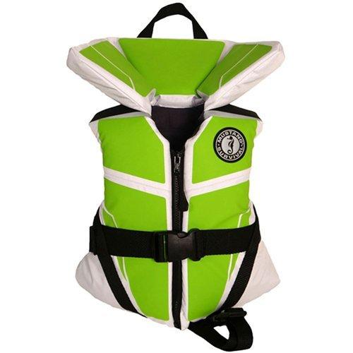 - Mustang Survival MV3255 255 Lil' Legends 100 Vest White/Green Child, White-Apple Green