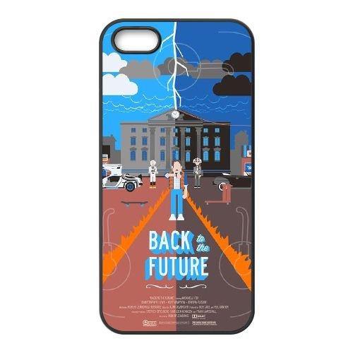 Back To The Future coque iPhone 5 5S Housse téléphone Noir de couverture de cas coque EBDOBCKCO11156