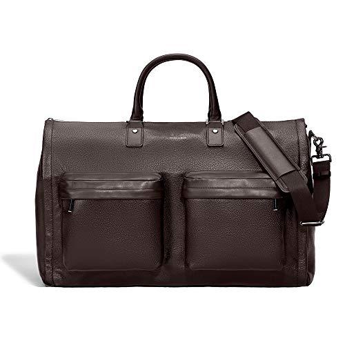 Albert Leather - HOOK & ALBERT Genuine Leather Garment Weekender Bag, Espresso Brown