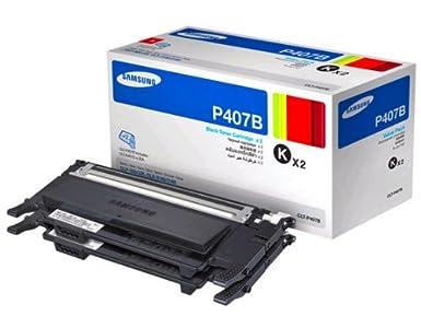 Samsung CLT-P407B/XAA Value Pack – Black Toner x 2 (CLP-325W, CLX-3185, CLX-3185FW)