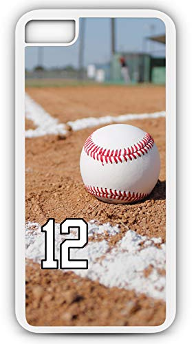 (iPhone 7 Phone Case Baseball B107Z by TYD Designs in White Rubber Choose Your Own Or Player Jersey Number 12)
