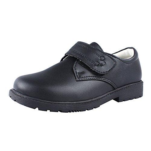 Leather Uniform Shoes - MK MATT KEELY Boys Black School Uniform Genuine Leather Dress Shoes TPR Rubber Sole 4 M Big Kid