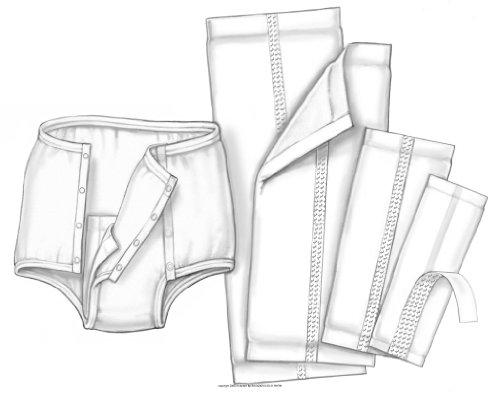 HandiCare Garment Liner, Handicare Lnr 4.5 X 14 in, (1 CASE, 125 EACH)