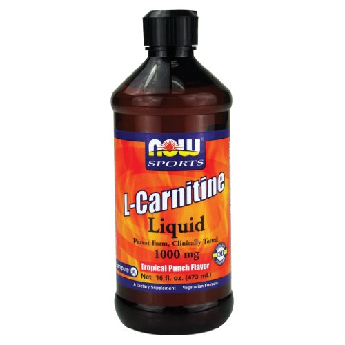 Now Foods L-Carnitine Liquid Tropical Punch 1000 mg - 16 oz. 8 Pack by Now Foods