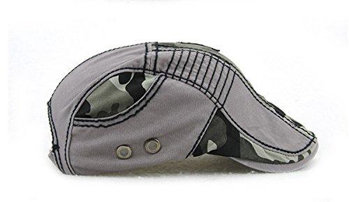 Gorra Ahatech Cotton de viajes placer ajustable gris para plana 2 Man Beret qtrU8ft