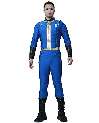 Miccostumes Men's Sole Survivor Nate Cosplay Costume MM Blue ()