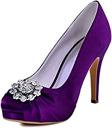 Amazon.com: Purple - Pumps / Shoes: Clothing Shoes &amp Jewelry