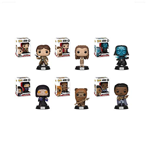 - Funko Pop! Star Wars Return Of The Jedi Complete Set Bundle with Endor Han Solo #286, Ewok Village Leia #287, Darth Vader #288, Emperor Palpatine #289, Wicket #290, and Lando Calrissian #291 (6 items)