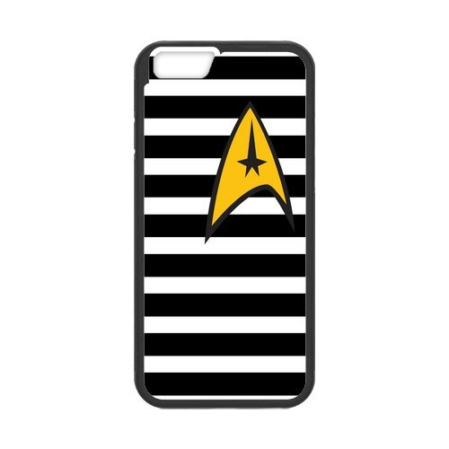 Fayruz- Personalized Protective Hard Textured Rubber Coated Cell Phone Case Cover Compatible with iPhone 6 & iPhone 6S - Star Trek F-i5G1021