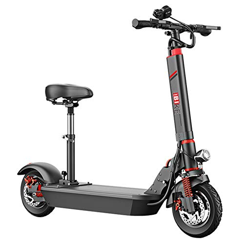 GREATY Electric Scooter, 500W Motor Foldable Electric Scooter for Adult with Burglar Alarm, Max Speed 45km/h, 10'' Tires with Cruise Control and USB Charging,120to150km