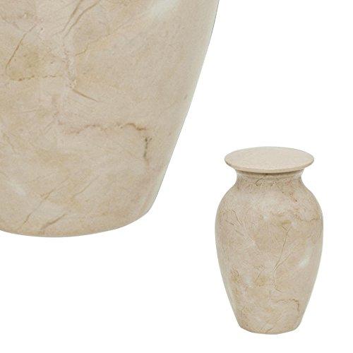 Perfect Memorials Cream Stone Keepsake Cremation Urn (Keepsake Stone)